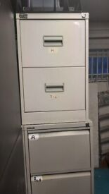 3 Office world 2-drawer lockable cupboard