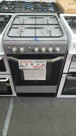 New graded Indesit 50cm gas cooker with 12 months guarantee