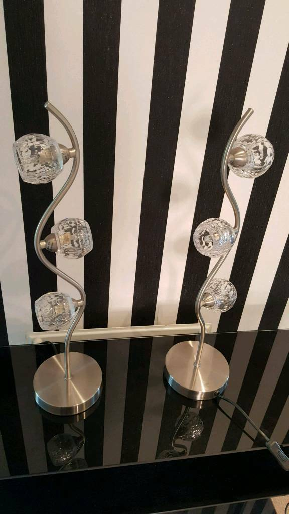 brand new pairs of next table lamp never been used with bulbs