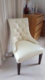 Beautiful Italian Leather Bedroom Chair in excellent condition