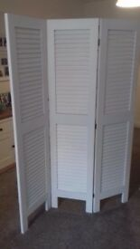 Wooden white partition lounge furniture screen never been used