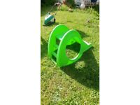 Childrens childs kids slide in lime green animal theme