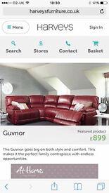 Harvey's reclining corner sofa new