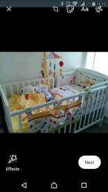 LITTLE CIRCUS COT BED BEDDING BUNDLE AND ACCESSORIES (DOESN'T INC. COT BED)