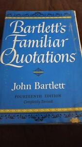 Bartlett's Familiar Quotations Kingston Kingston Area image 1
