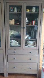 Ikea solid wood display cabinet