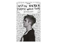 Justin Bieber tickets x 2 standing £500 for Friday 21st October