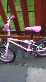 Girls pink BMX age 4 to 6 years old