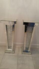 Astoria Mirror Floating Crystal Pillar