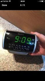 Sony dream machine mains or batt powered radio clock alarm unused ex con