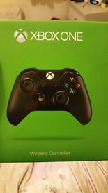 Xbox 1 wireless controller still in box for sale! Corner of box a little bashed