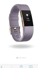 Fitbit charge 2 pink and rose gold
