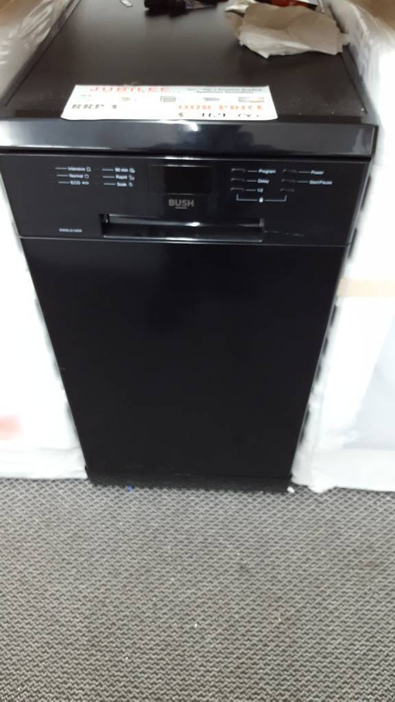 New graded Bush slimline dishwasher with 12 months guarantee