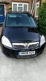 Vauxhall Zafira 08 plate