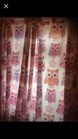 Catherine Lansfield Owl Curtains 168cm x 183cm