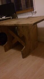 rustic handmade 5ftx30 inch dining table, bespoke options available