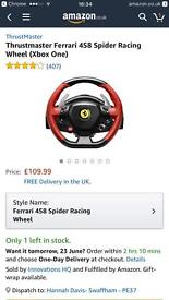 THRUSTMASTER FERRARI 458 SPIDER RACING WHEEL XBOX ONE ONLY