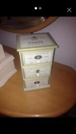Shabby chic jewellery box / small storage box