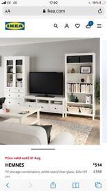 White Hemnes IKEA TV Stand