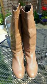 Tan leather boots from faith size 7/8