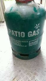 Full patio heater gas bottle