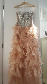 Sherri Hill Nude/Champagne Prom Dress 1586 - 2013 - Worn Once - US Size 8/ UK 10