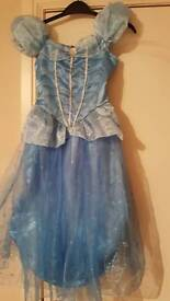 Disney store sparkly cinderella hooped dress age 5-6