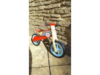 Balance bike for child aged 18mths to 4 years. Excellent condition.