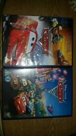 Disney DVD's cars 1 & 2