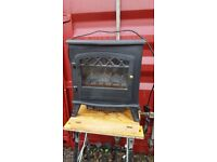 Electric Fireplace 1850W Fire Wood Flame Heater Stove Living Room Log Burner UK