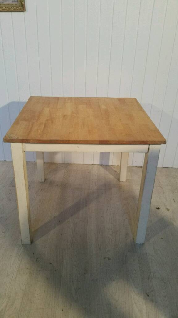 Pending Collection Small Solid Wood Shabby Chic Dining Table