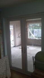 UPVC Double Doors, French doors, Patio Doors with silver handles