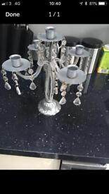 Silver candelabra from next
