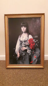 Flower Girl Poster Print by Alexei Harlamoff nice frame
