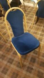 Restaurant 60x blue velvet banquet chairs