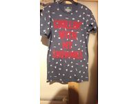 """""""Chillin' with my snowmies"""" novelty Christmas t-shirt. Never worn. Size XS"""