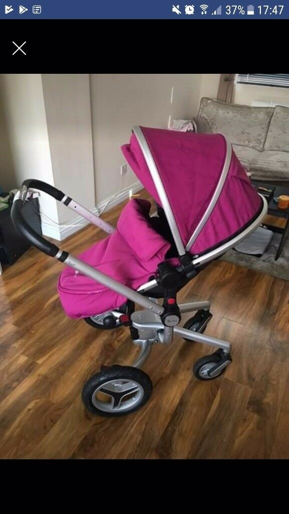 Silver cross surf 2 full travel system Raspberry in colour