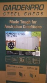 GARDEN PRO 10FT X 10FT STEEL GARDEN SHED NEW