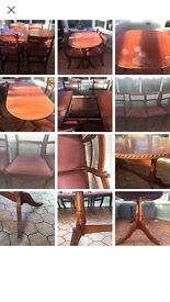 UPCYCLE PROJECT DINING TABLE AND CHAIRS