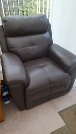 Leather Electric Recliner & Lifter