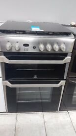 INDESIT ID60G2X 60 cm Gas Cooker - Stainless Steel with 4 MONTHS WARRANTY