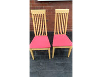 Two High Back Dining Chairs