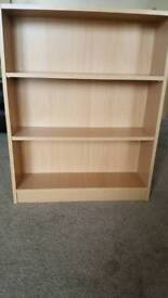 Small beech effect bookcases x 2