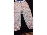 Girls harem style trousers age 5