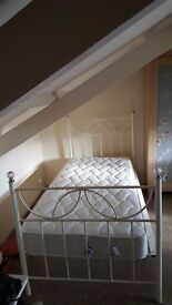 White metal frame single bed with matress as new 2 available central truro