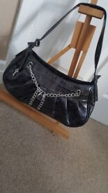 Bulaggi Ladies Handbag Croc Print Adjustable Shoulder Buckle Strap
