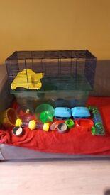 Gerbilarium gerbil hamster cage and accessories