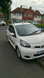 TOYOTA AYGO.GO, VERY LOW MILAGE 1.0 Petrol, White, 5 door Manual, 11 Reg.
