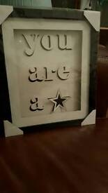 You are a star framed picture -brand new