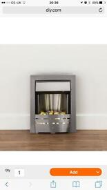 Emily Led electric fire silver